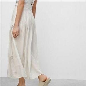Aritzia Wilfred Essonne Black Midi Maxi Wrap Skirt